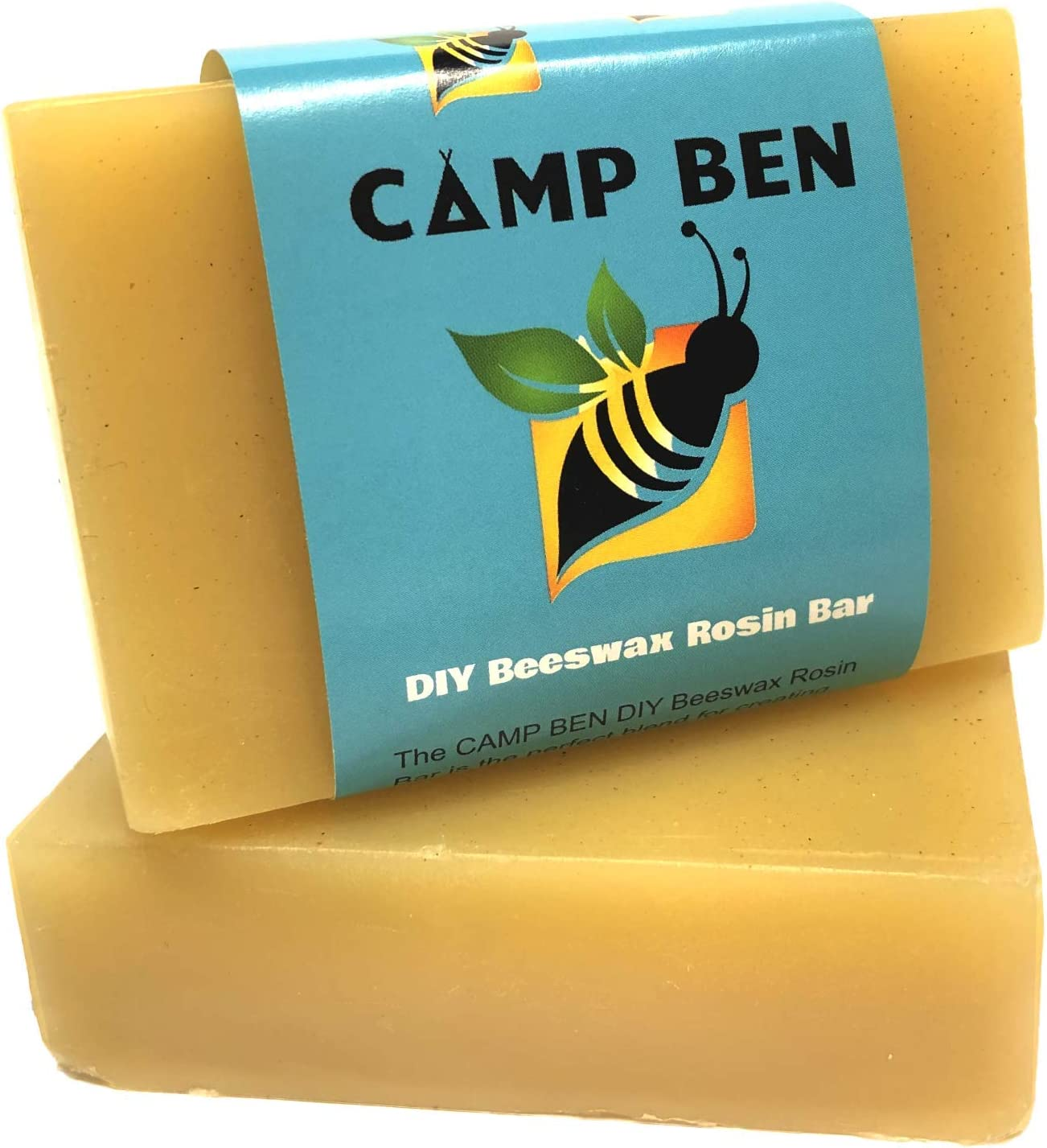 CAMP BEN Beeswax Rosin DIY Bar - 3 oz Ready to Use & Fast Melting - Do It Yourself Cloth Bowl Covers, Food Sandwich Wraps, Snack Bags - Pine Resin PreMixed - All Natural Food Safe, Replaces Plastic