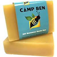 CAMP BEN Beeswax Rosin DIY Bar - 3 oz Ready to Use & Fast Melting - Do It Yourself Cloth Bowl Covers, Food Sandwich…