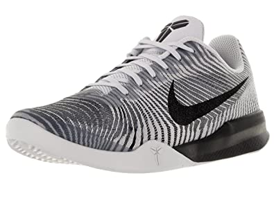 e4d2668f8e95 Nike Mens KB Mentality II White Black Wolf Grey Basketball Shoe 9 Men US