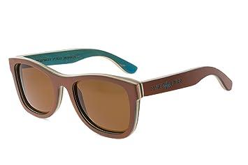 Gafas de sol de madera MOSCA NEGRA modelo SKATE CAFÉ wood sunglasses OFERTA!