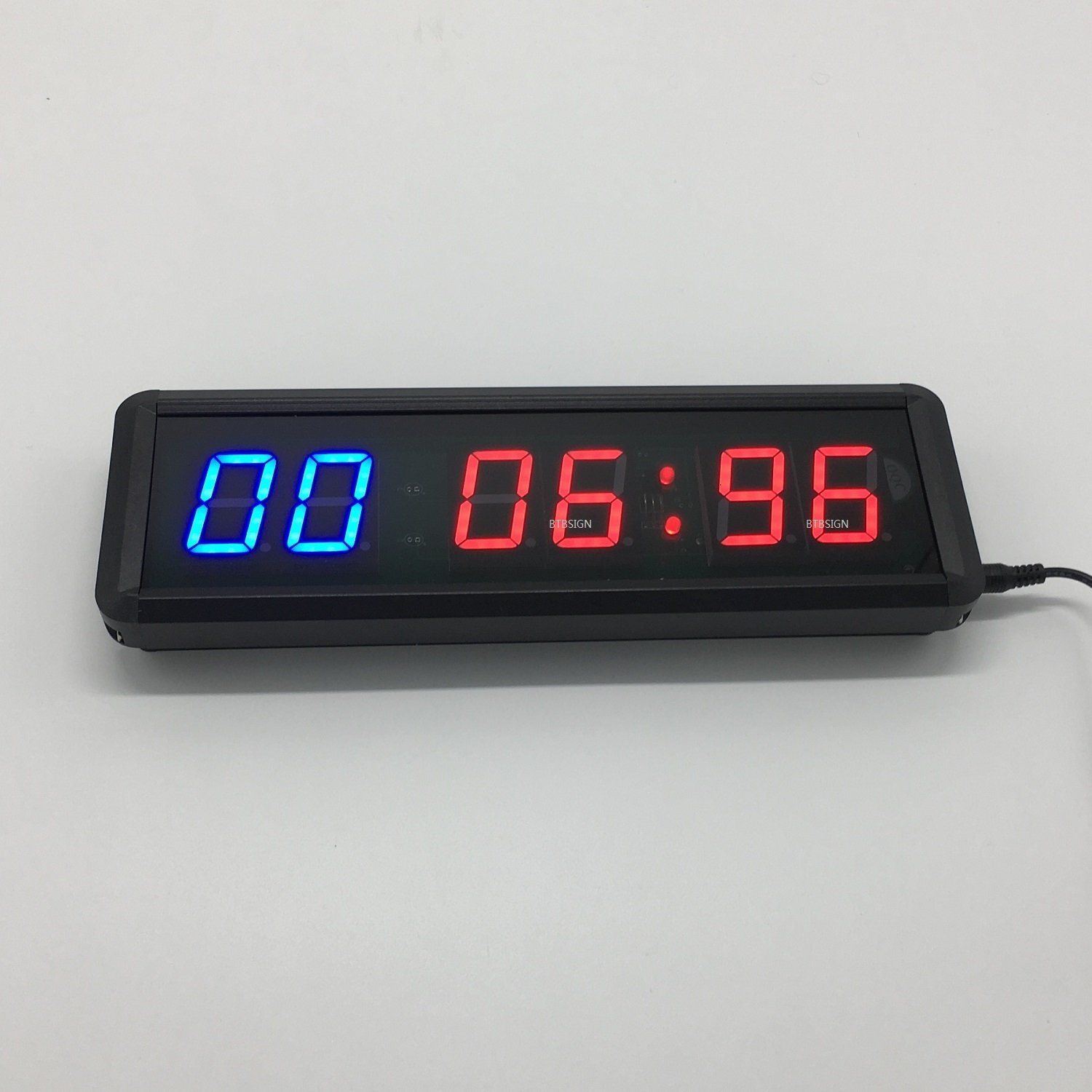 Led interval timer programmable stopwatch home gym crossfit