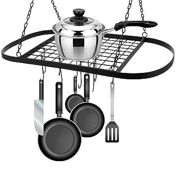 Hierro para Colgar maceta soporte con gancho, gancho para la cocina ollas y sartenes organizador rack para almacenamiento Utility - Batería de cocina: ...