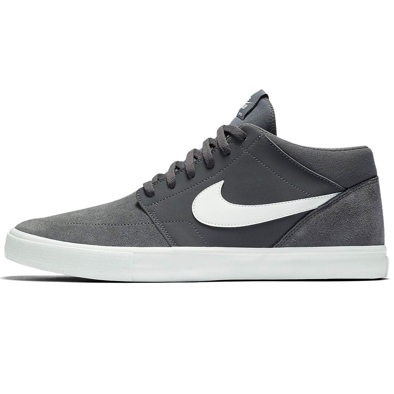 a08535edf62cb Nike Mens SB Portmore II Solar MID Dark Grey White Size 8.5