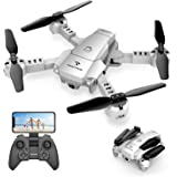 Amazon Com Snaptain S5c Wifi Fpv Drone With 720p Hd Camera Voice Control Wide Angle Live Video Rc Quadcopter With Altitude Hold Gravity Sensor Function Rtf One Key Take Off Landing Compatible W Vr Headset Snaptain Toys