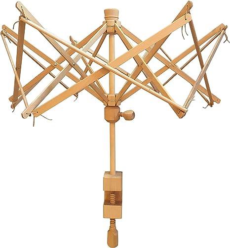 Medium Swift Yarn Winder Knitting Umbrella Swift Yarn Winder Holder Wood Swift Yarn Holder Wooden Umbrella Swift Yarn Winder