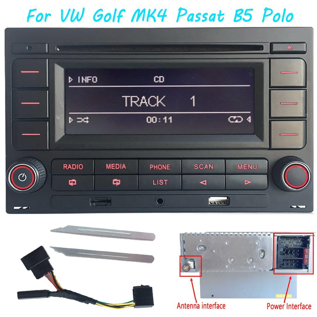 Radio de coche estéreo de audio RCN210 para VW Golf MK4 POLO ...