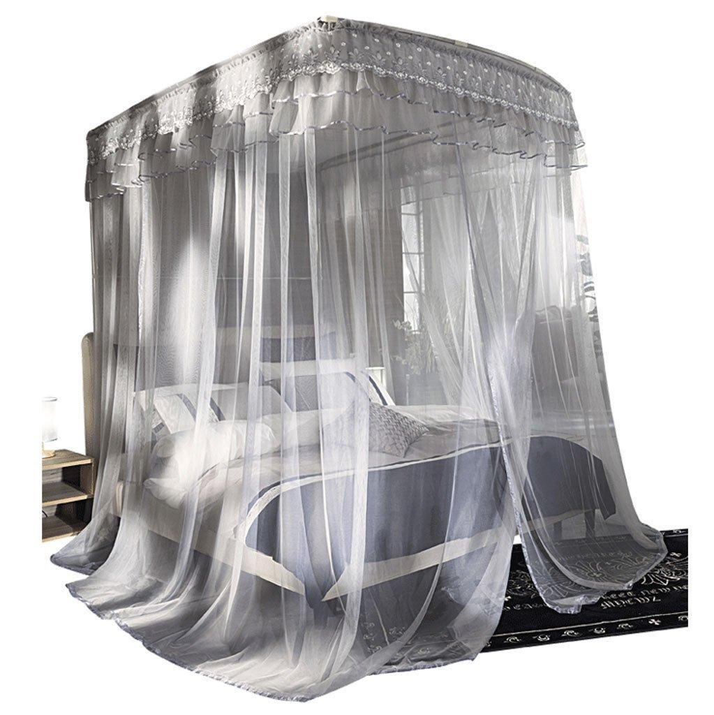 BJL Mosquito Net Moskitonetz Palace Netze U-förmigen Teleskop von Landing Ständer Verschlüsselung Home 1,2 m/1,5/1,8 m Home