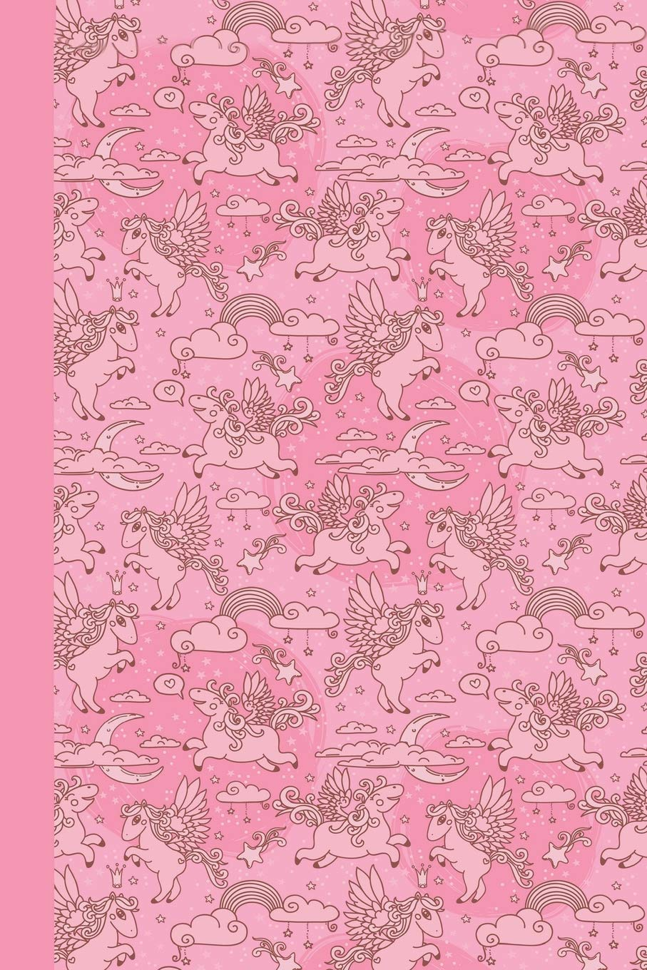 Read Online Sketchbook: Baby Pegasus (Pink) 6x9 - BLANK JOURNAL WITH NO LINES - Journal notebook with unlined pages for drawing and writing on blank paper (Baby Animals Sketchbook Series) ebook
