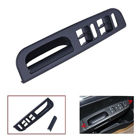 kawayee negro puerta interruptor de ventana bisel + mango juego de tapacubos para VW Jetta Golf
