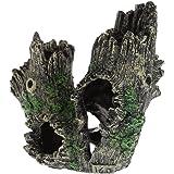 stebcece resin trunk driftwood hiding cave aquarium fish tank ornament