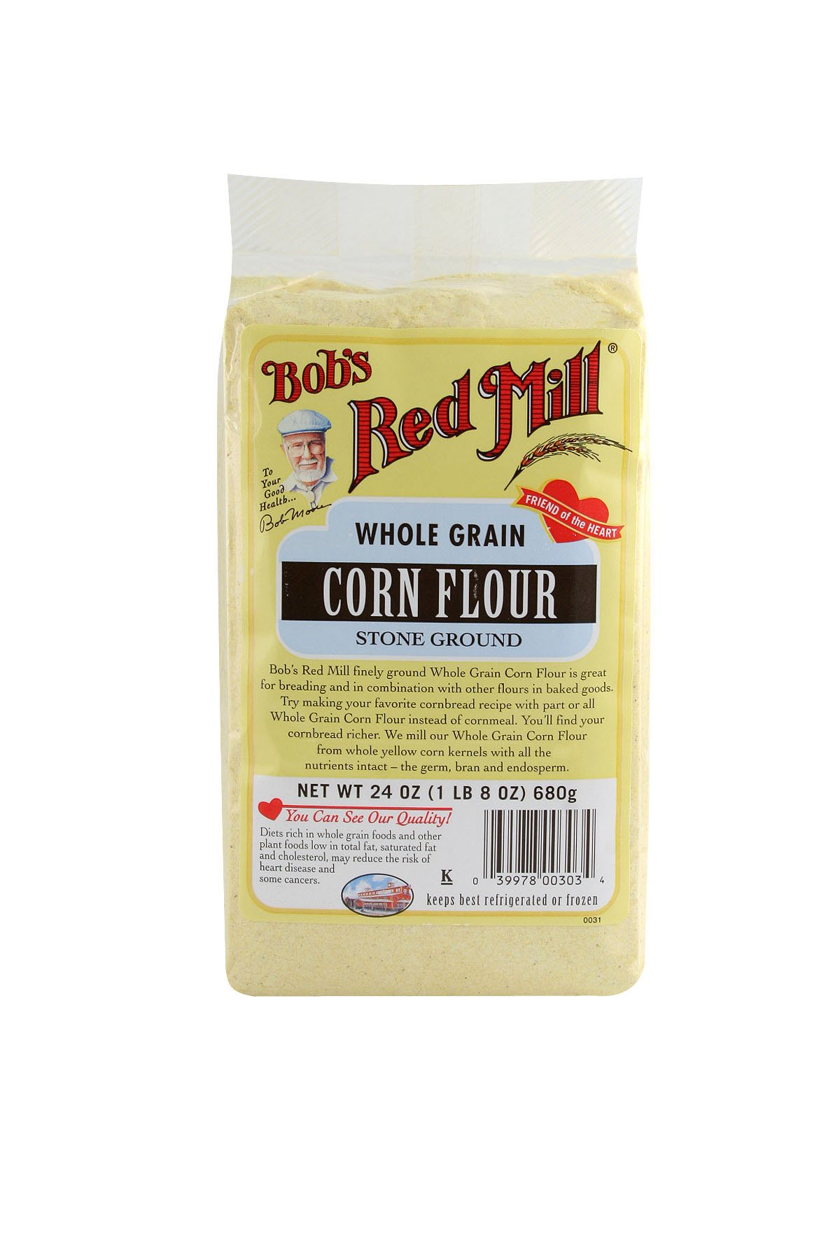 Bob's Red Mill Corn Flour, 24-Ounce (Pack of 4)