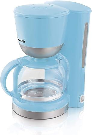 Swan SK18110BLUN Independiente Manual - Cafetera (Independiente, Cafetera de filtro, 1,25 L, Azul): Amazon.es: Hogar