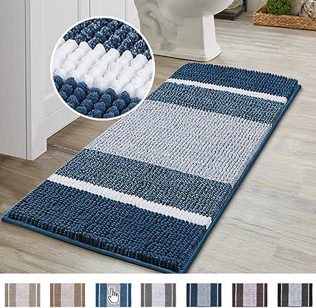 Small Fluffy Duck Egg Coastal Blue Shaggy Rug Soft Underfoot Thick Bathroom Mat