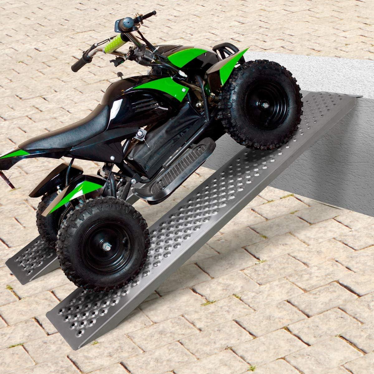 f/ür Anh/änger Motorrad ATV ECD Germany 2er Set Auffahrrampe Auffahrrampen Verladerampe Laderampe Verladeschiene Motorradrampe aus Aluminium Antirutsch f/ür Reifenbreite bis 200mm 400kg 149cm