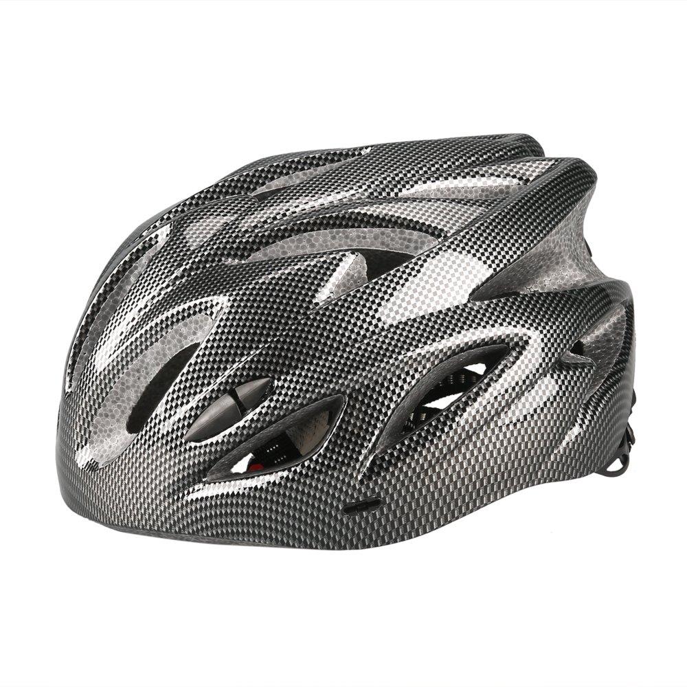 Uzexon Casco ciclista de ciclismo de MTB (18 aberturas), adultos Casco ligero unisex de bicicleta con visera desmontable y forro suave, sistema de rueda ajustable (Negro)