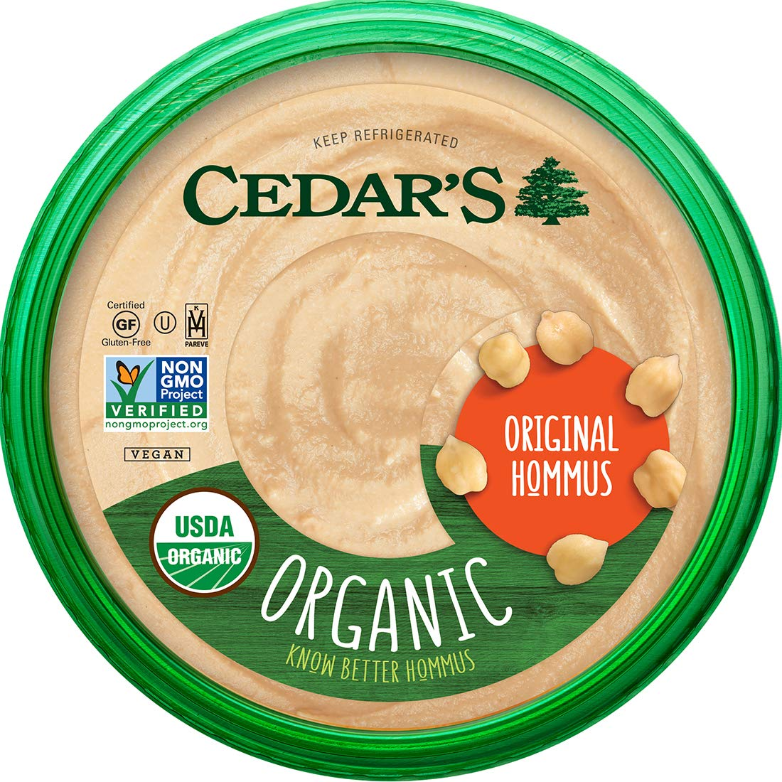 Cedar's Organic Original Hommus, 10 OZ