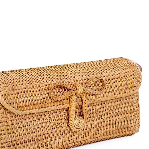 ... De La Playa De La Rota,Mujeres Bolso Tejido a Mano,Paja Bolsa Mujeres Tejer Bolsa De Hombro como Regalo para Las Mujeres: Amazon.es: Ropa y accesorios