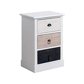 Rebecca Mobili Commode Table De Chevet Table De Nuit 3 Tiroir Wild