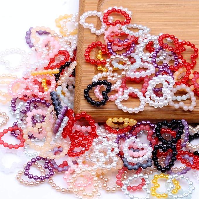 11mm Heart Shape Imitation Pearl Beads Resin Rhinestones Crafts DIY Decoration