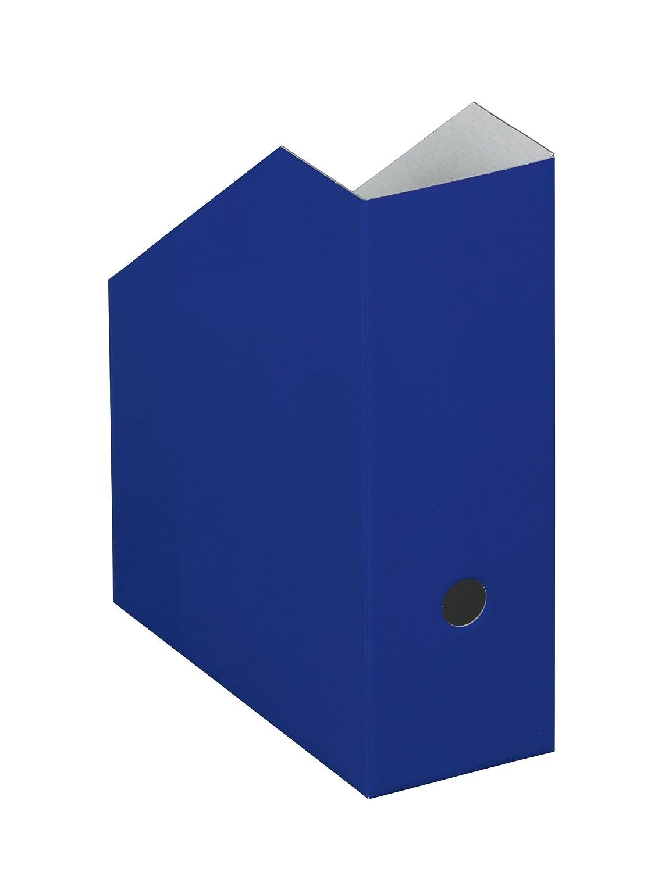 NIPS UNI COLOUR 112167116 - Cartella portarivista obliqua XL, (L x P x A) 10,5 x 26,5 x 31,5 cm, confezione da 5 pezzi, colore: Blu NIPS Ordnungssysteme GmbH