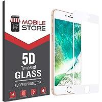 mobile store 5D Glass iPhone SE Ekran Koruyucu Tam Kaplayan Cam Beyaz, Apple iPhone SE 2020 ile Uyumlu