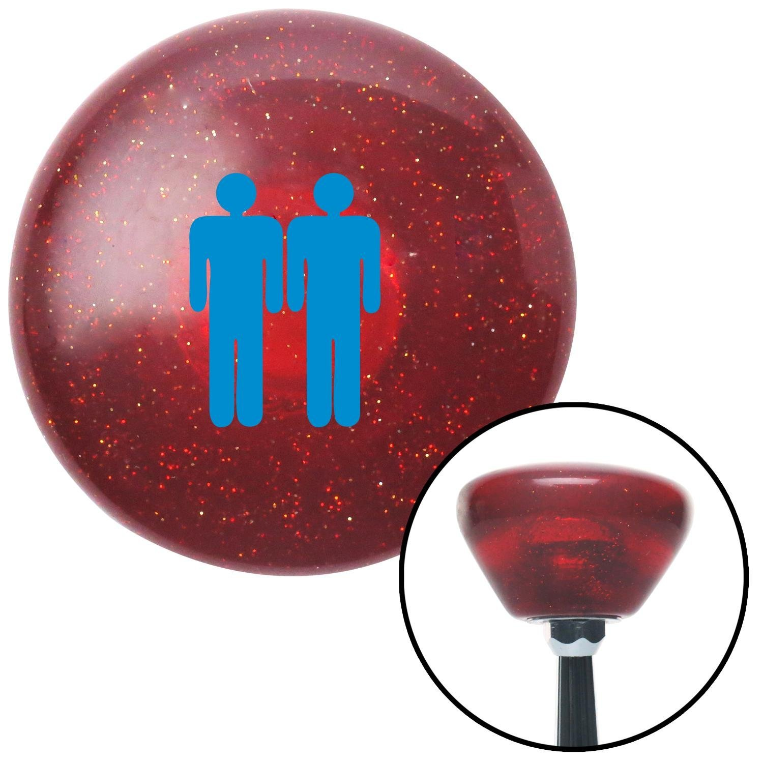 American Shifter 195645 Red Retro Metal Flake Shift Knob with M16 x 1.5 Insert Blue Man Standing by Man
