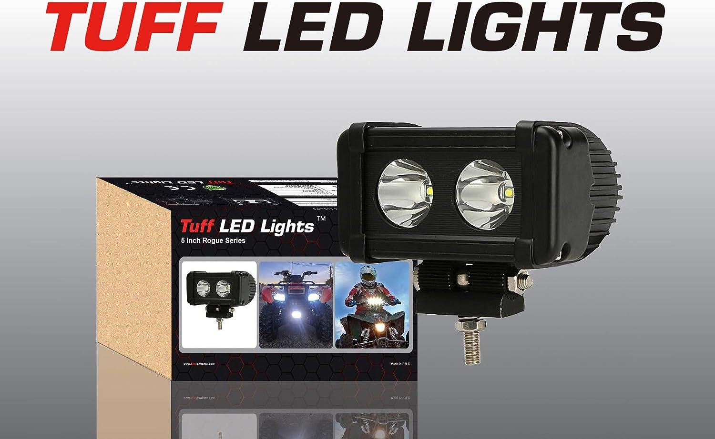 Tuff LED Lights 2 X 4 Inch Round 27watt LED Work Lamp Light 1550 Lumen Atv Off Road Utv Polaris Ranger