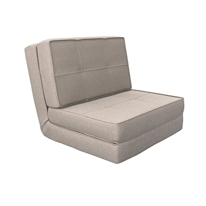 Camabeds Isten Single Seater Sofa Cum Bed (Grey)