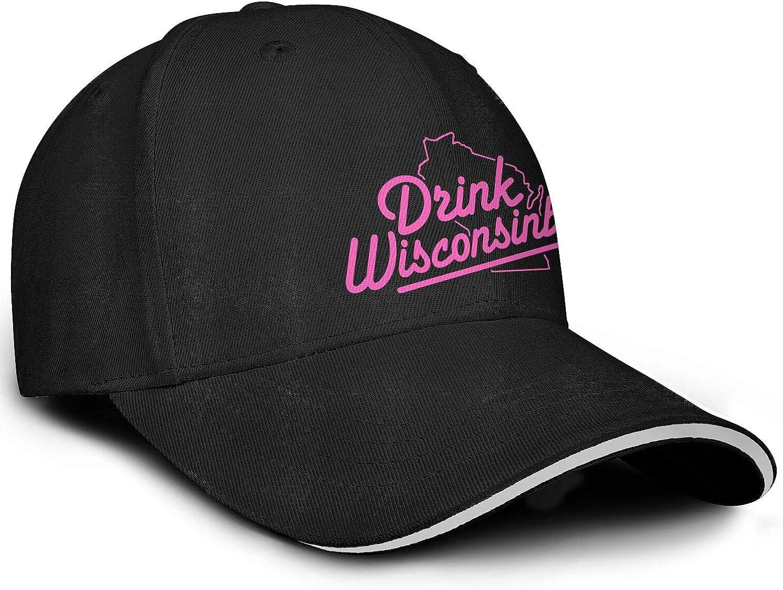 Unisex Outdoor Humorous Antiperspirant Drink-Wisconsinbly-in-Cute-Gay-Pride-Rainbow Cap for Men//Women