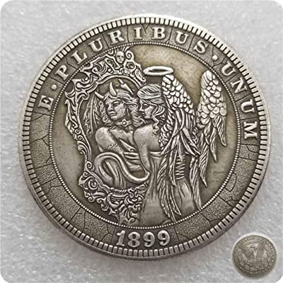 DengRen Beautiful Angel Nickel Funny Coin-1899 Hobo Nickel Coin - Great Commemorative Old Coins Morgan Dollars - Discover History Handmade Coins Satisfactory Service: Kitchen & Dining