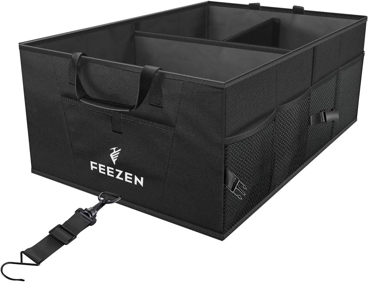 Feezen(フィーゼン) 車用トランクオーガナイザー SUV/車/トラック/乗用車/ミニバンに最適 ご家庭用 丈夫で耐久性に優れた構造 滑り止め付き 防水加工済み