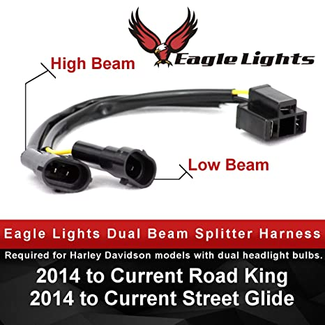 Eagle Lights H4 to H9 or H11 wire harness Splitter Harness for Dual on
