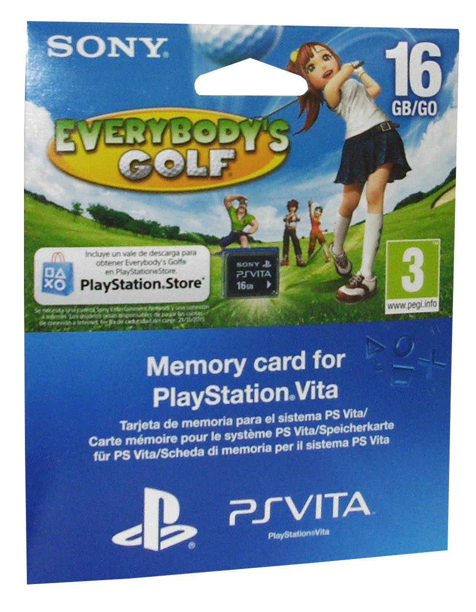PS Vita - Tarjeta de Memoria de 16 GB + Everybodys Golf ...
