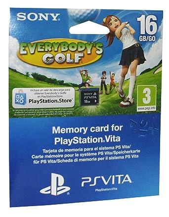 PS Vita - Tarjeta de Memoria de 16 GB + Everybodys Golf ...