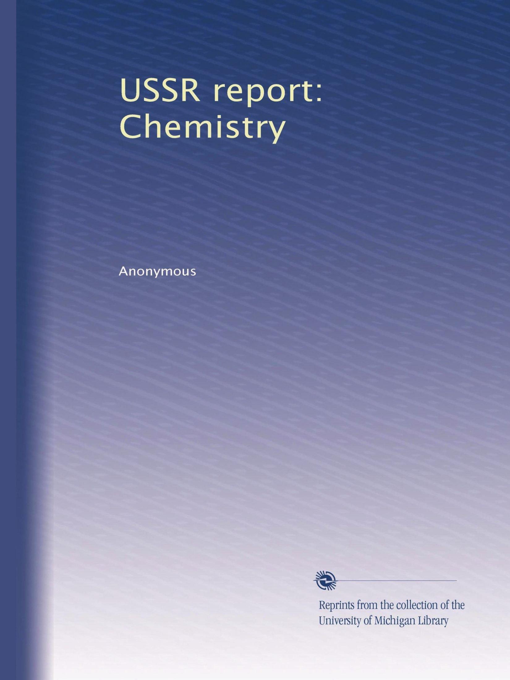 USSR report: Chemistry PDF