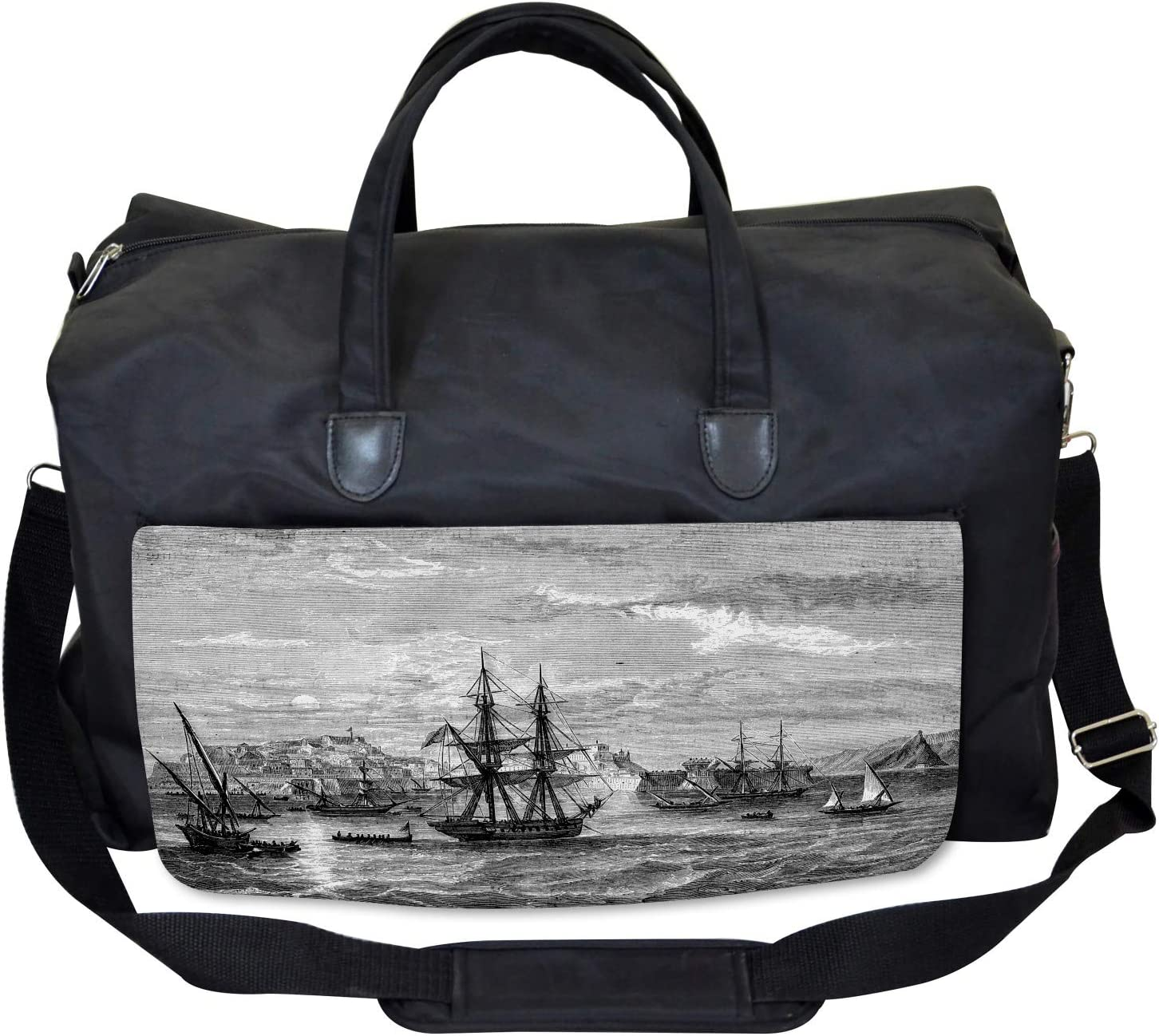 History of France Elba Ambesonne Antique Gym Bag Large Weekender Carry-on
