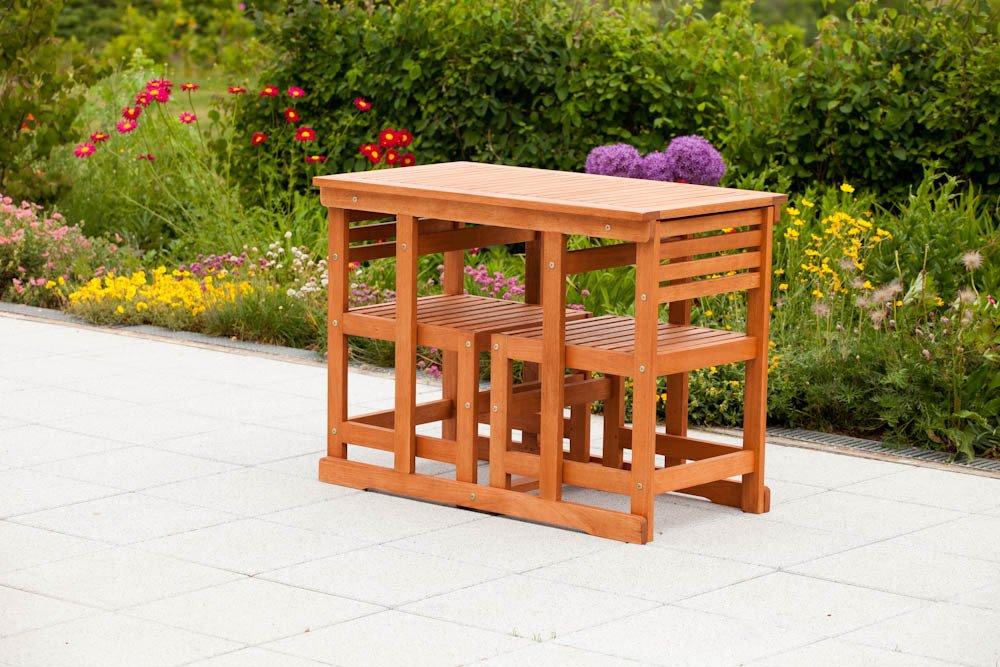 merxx balkonm bel set venedig aus eukalyptusholz inkl sitz und r ckenkissen g nstig online kaufen. Black Bedroom Furniture Sets. Home Design Ideas