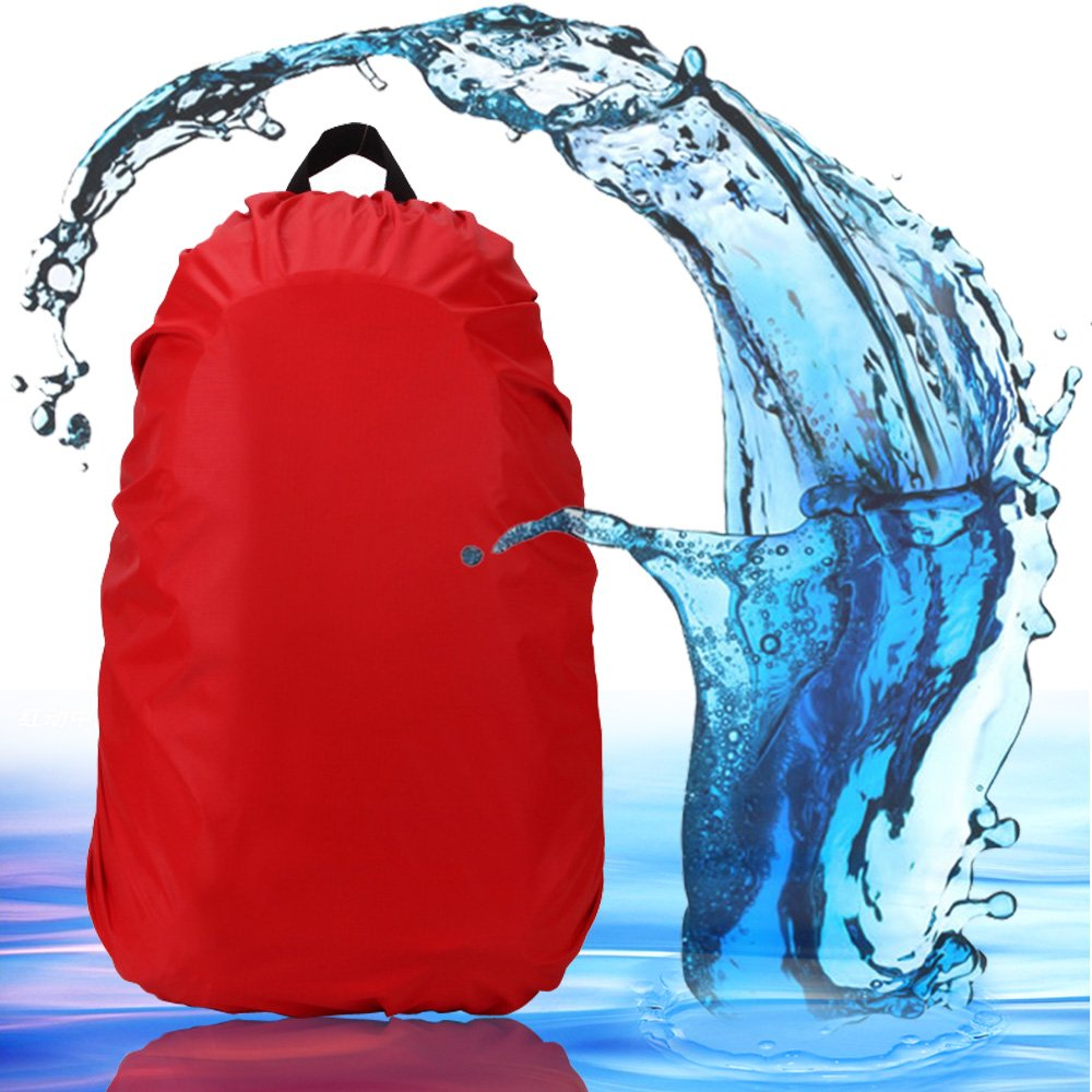 2win2buy Rain Cover, Water Resistant Backpack Bag Cover for Outdoor Activities, Adjustable Elastic Rucksack Waterproof Cover