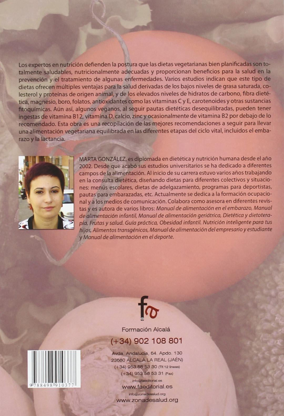 Alimentacion vegetariana sana y practa (Spanish Edition): Marta Gonzalez Caballero: 9788498910377: Amazon.com: Books