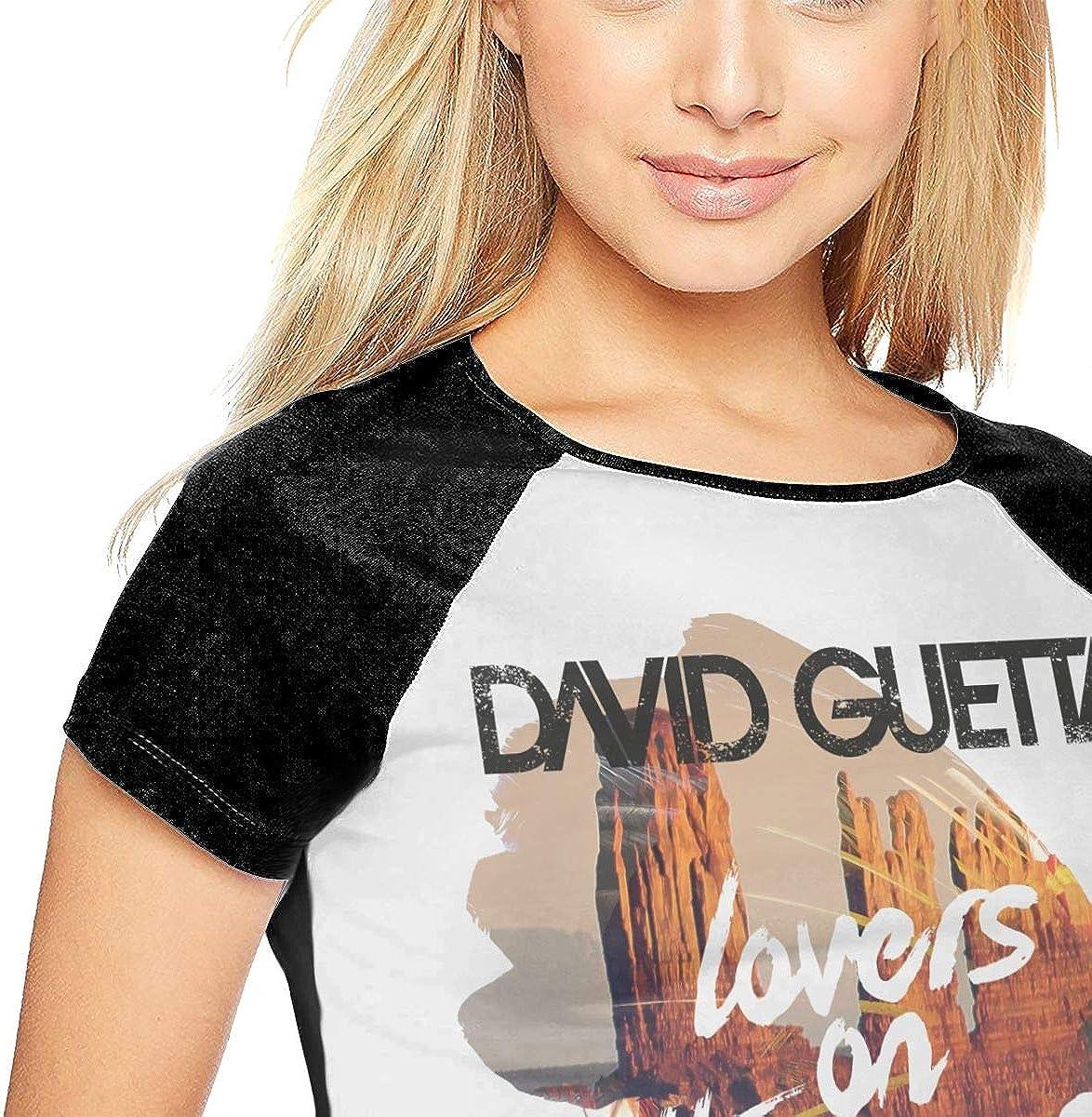 SheyAnsh David Guetta Women Raglan Short Sleeve Casual Print T-Shirts Baseball Blouses