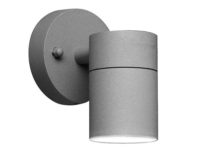 Elegante led applique da parete modena in grigio antracite degli