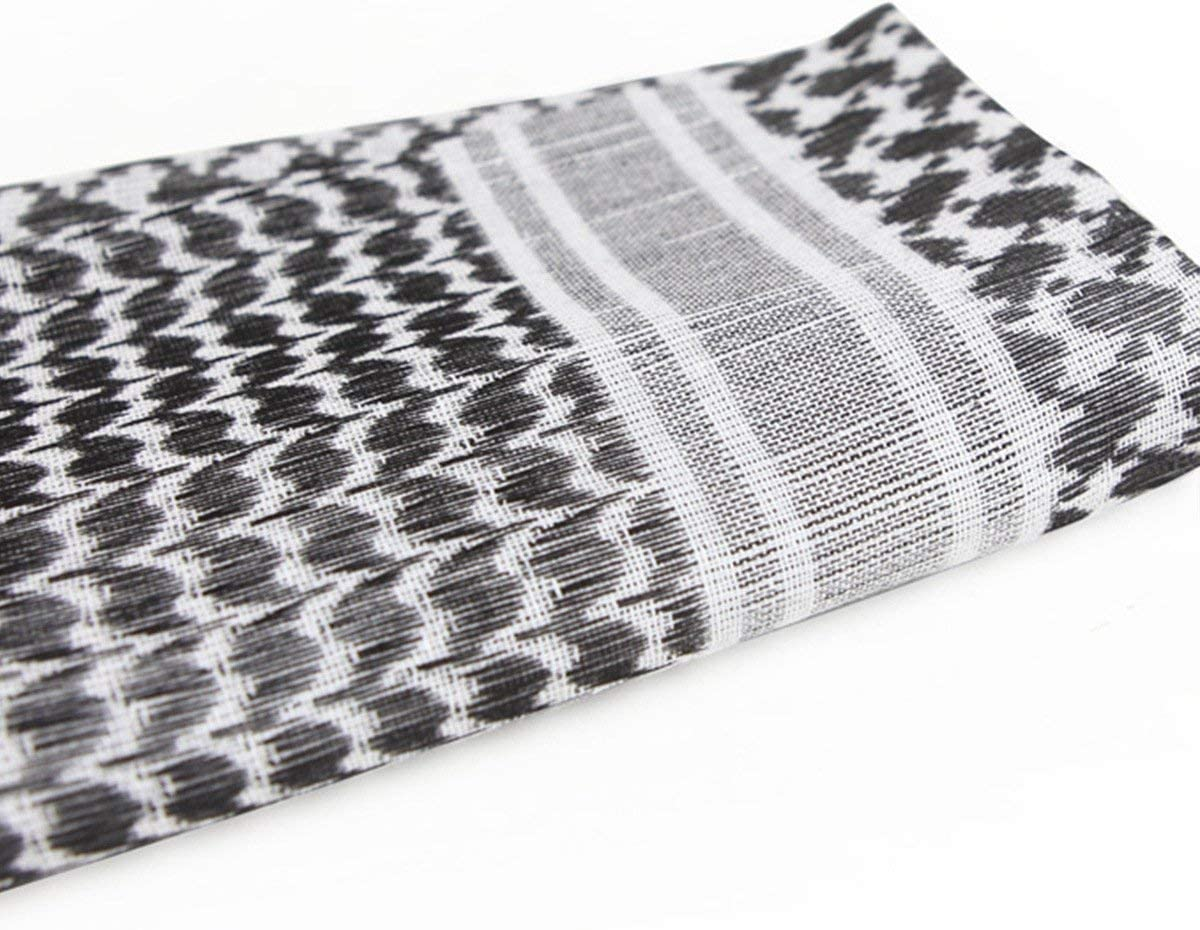 per uomini e donne con nappa bianco foulard per testa Free Soldier 110 x 110 cm Kefiah 100/% cotone tattica militare