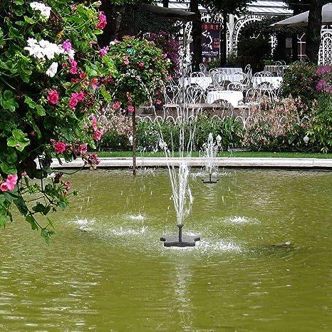 ZLJWRQY Fuente jardín Solar Fuente Bomba de Agua Kit LED NI-MH 7V/1500MA 80CM Altura Agua Bombeo jardín decoración Adorno: Amazon.es: Deportes y aire libre