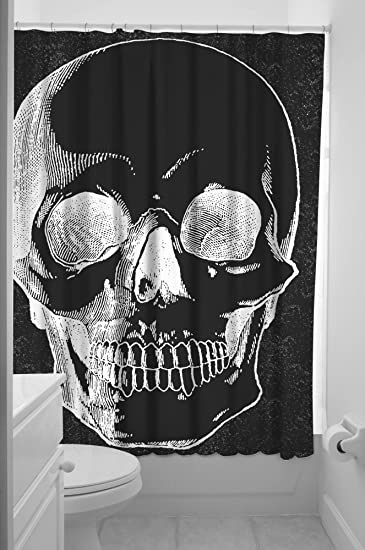 Amazon.com: Sourpuss Anatomical Skull Shower Curtain: Home & Kitchen
