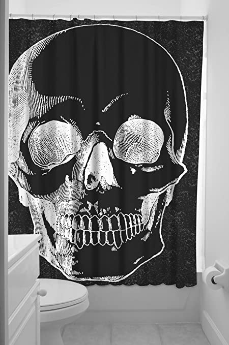 Image Unavailable Not Available For Color Sourpuss Anatomical Skull Shower Curtain