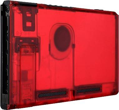 eXtremeRate Carcasa Transparente Rojo para Nintendo Switch Funda ...