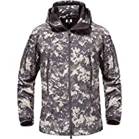 HAINE Military Wasserdicht Herren Softshell Jacke Fleece Futter Camouflage Outdoor Coat Multi Größen
