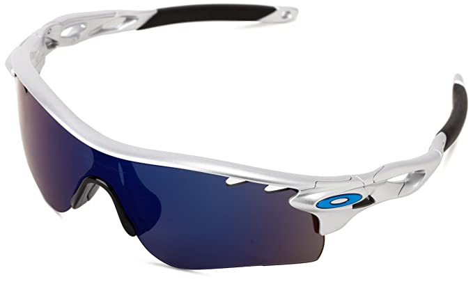 c62a3c12ef22 Image Unavailable. Image not available for. Colour: Oakley Radarlock  OO9181-21 Iridium Sport Sunglasses,Silver ...