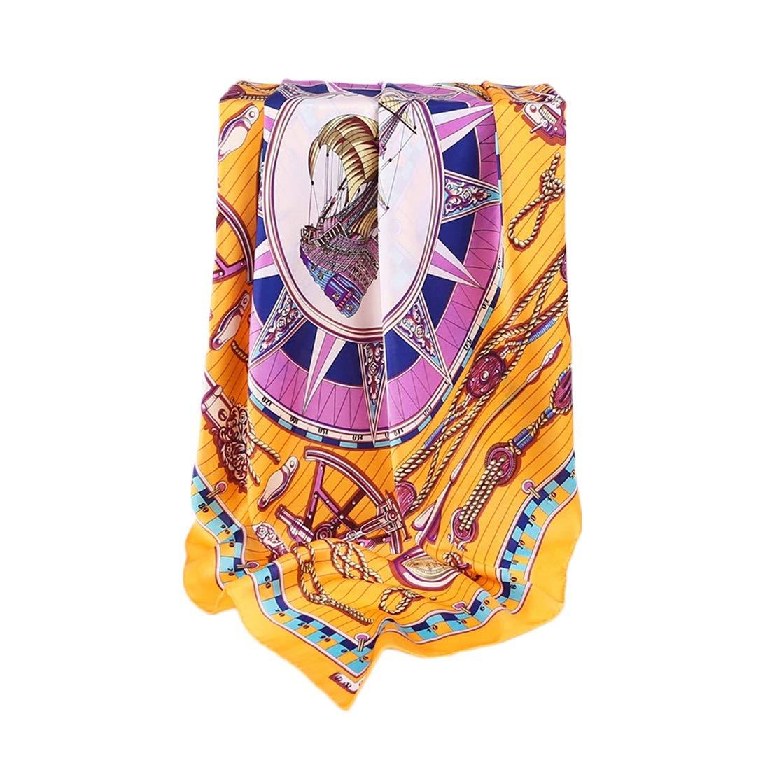 WEATLY Bufandas de Mujer Primavera Verano Viaje cómodo Toalla de Playa Amarilla (Color : Orange, Size : 86x86CM): Amazon.es: Hogar