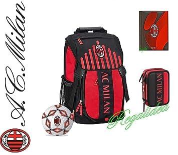 Mochila oficial AC Milan Escuela 2017 y 2018 + Estuche 3 ...
